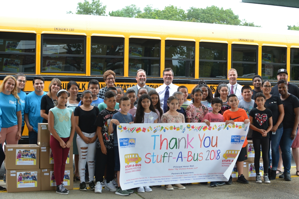 United Way of Long Island's Stuff-A-Bus Program Delivers Record